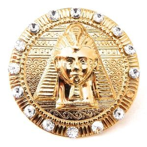 EGYPTIAN GOLD TUTANKHAMUN MEDALLION RING NEW
